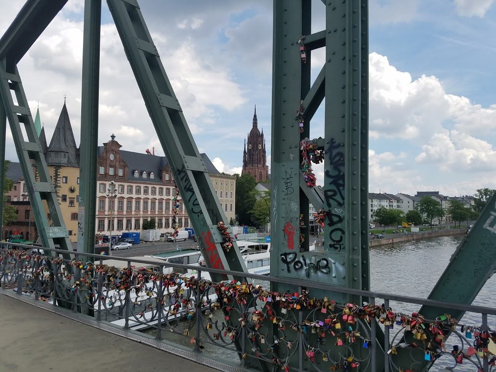 Lock bridge in Frankfurt Germany