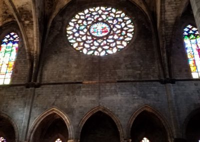 stained gass in Basílica Santa Maria del Mar
