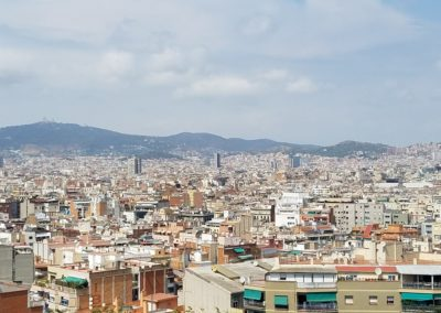 view of Barcelona from Montjuic area
